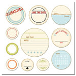 Scenic Route Paper - Chipboard Circles - Save the Date