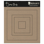 Scenic Route Paper - Chipboard Shapes - Square, CLEARANCE