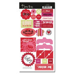 Scenic Route Paper - Loveland Collection - Valentine's Day - Chipboard - Loveland Valentine, CLEARANCE