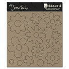 Scenic Route Paper - Chipboard Shapes - Plain Flowers, CLEARANCE