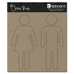 Scenic Route Paper - Chipboard Shapes - Plain Man and Woman