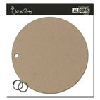 Scenic Route Paper - Chipboard Album - 7 Inch Circle - Plain, CLEARANCE