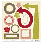 Scenic Route Paper - Garland Collection - Christmas - Die Cut Shapes - Garland, CLEARANCE
