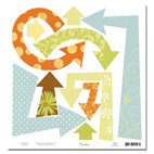 Scenic Route Paper - Ashville Collection - 12x12 Cardstock - Die Cut Arrows