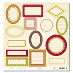 Scenic Route Paper - Sonoma Collection - Die Cuts - Journaling Labels, CLEARANCE