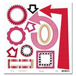 Scenic Route Paper - Loveland Collection - Valentine's Day - Die Cut Shapes - Loveland