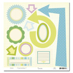 Scenic Route Paper - Lynden Collection - Easter - 12x12 Die Cut Sheet - Lynden, CLEARANCE