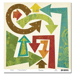 Scenic Route Paper - Grafton Collection - 12x12 Die Cut Arrows - Grafton, CLEARANCE