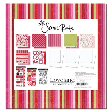 Scenic Route Paper - Loveland Collection - Valentine's Day - Collection Pack - Loveland , CLEARANCE
