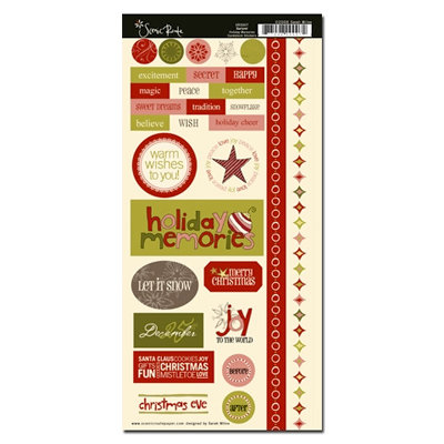 Scenic Route Paper - Garland Collection - Christmas - Cardstock Stickers - Holiday Memories, CLEARANCE