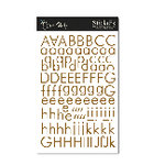 Scenic Route Paper - Alphabet Stickers - Omaha - Brown, CLEARANCE