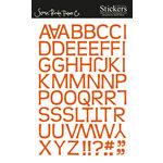Scenic Route Paper - Stickers - Redmond Alphabet - Orange, CLEARANCE