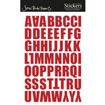 Scenic Route Paper - Stickers - Berkely Alphabet - Red, CLEARANCE