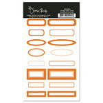 Scenic Route Paper - Cardstock Stickers - Orange Date