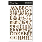 Scenic Route Paper - Cardstock Alphabet Stickers - Happy Valley - Chestnut, CLEARANCE