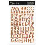 Scenic Route Paper - Cardstock Alphabet Stickers - Happy Valley - Dark Orange, CLEARANCE