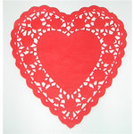 SRM Press Inc. - 6 Inch Red Heart Doilies