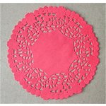 SRM Press - Lancaster Doilies - Red Lace