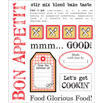 SRM Press Inc. - Cooking Collection - Stickers - Say It with Stickers - Bon Appetit