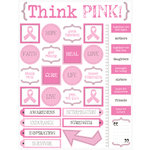 SRM Press Inc. - Celebrate Life Collection - Stickers - Live Life - Think Pink