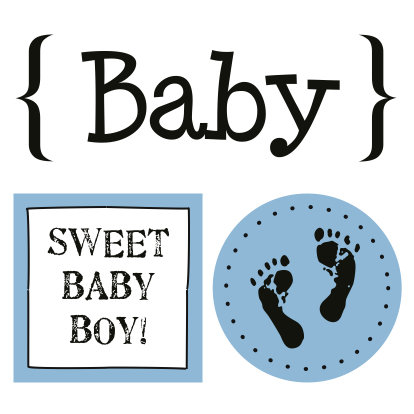 SRM Press Inc. - Card Collection - Stickers - Quick Cards - Baby Boy