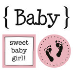 SRM Press Inc. - Card Collection - Stickers - Quick Cards - Baby Girl