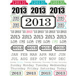 SRM Press Inc. - Stickers - Year of Memories - 2013