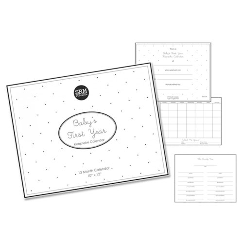 SRM Press Inc. - Baby's First Year Collection - 10 x 12 Blank Keepsake Calendar - Baby's First Year