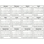 SRM Press Inc. - Stickers - Tiny Calendars - 2013