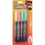 SRM Press - Bistro Chalk Markers -Fine Tip - Fluorescent - 4 Pack