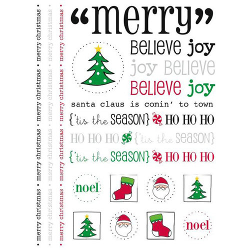 SRM Press Inc. - Christmas - Stickers - Merry