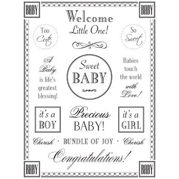 SRM Press Inc. - Card Collection - Stickers - Fancy Sentiments - Baby