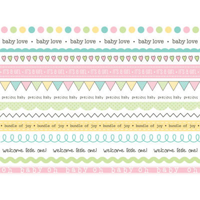 SRM Press Inc. - Stickers - We've Got Your Border - Baby Girl