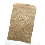 SRM Press Inc. - Embossed Kraft 4 x 6 Bags - Flourish