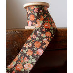 SRM Press - Floral Ribbon - Brown and Orange
