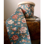 SRM Press - Floral Ribbon - Blue and Orange