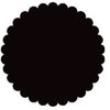 SRM Press Inc. - Punched Pieces - Medium Scalloped Circle - Black