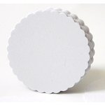SRM Press Inc. - Punched Pieces - Large Scalloped Circle - White