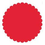 SRM Press Inc. - Punched Pieces - Small Scalloped Circle - Red