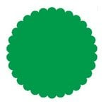 SRM Press Inc. - Punched Pieces - Medium Scalloped Circle - Green