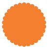 SRM Press Inc. - Punched Pieces - Small Scalloped Circle - Orange