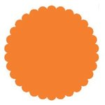 SRM Press Inc. - Punched Pieces - Large Scalloped Circle - Orange