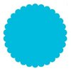 SRM Press Inc. - Punched Pieces - Small Scalloped Circle - Teal