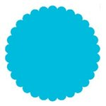 SRM Press Inc. - Punched Pieces - Large Scalloped Circle - Teal