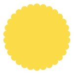 SRM Press Inc. - Punched Pieces - Small Scalloped Circle - Yellow