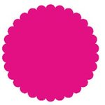 SRM Press Inc. - Punched Pieces - Small Scalloped Circle - Hot Pink