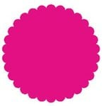 SRM Press Inc. - Punched Pieces - Medium Scalloped Circle - Hot Pink