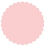SRM Press Inc. - Punched Pieces - Large Scalloped Circle - Baby Pink