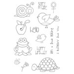 SRM Press - Jane's Doodles Stamp - Garden Friends