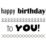 SRM Press - Clear Acrylic Stamps - Big Happy Birthday